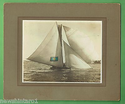 #t41. Boating Photograph, Skiff New South Wales In Sydney Harbour About 1921