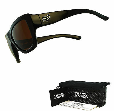 Fox The Gu Gu Sunglasses by Oakley Polished Black Frame Dark Bronze Lens USA
