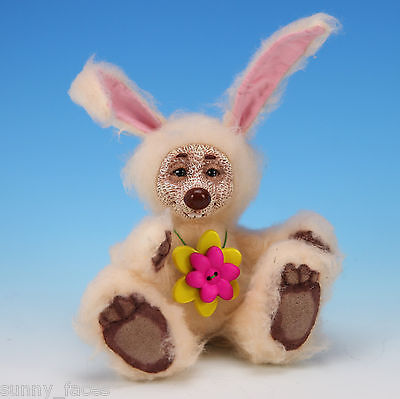"""OOAK Collectible Artist Soft Sculpture - LIV - plush bunny - 6"""" by Tanya"""