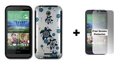 For HTC Desire 510 Rubberized Hybrid Phone Case + Free Screen Protector Turtle