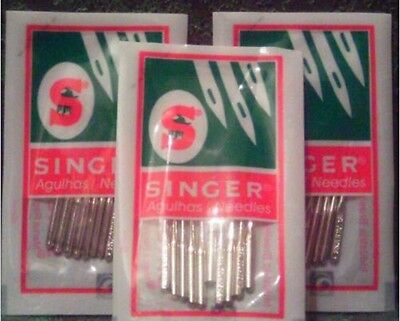 40pcs SINGER ( 2045)  HOME SEWING MACHINE NEEDLES Assorted Sizes #9,14,16,18