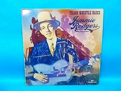 Jimmie Rodgers Train Whistle Blues LP Very Nice Record