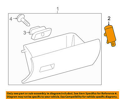 TOYOTA OEM 05-16 Tacoma-Glove Compartment Box Door Stopper 5505404020