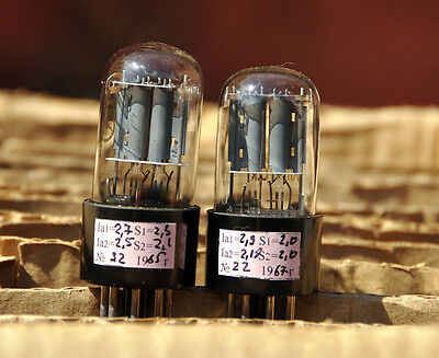 MATCHED PAIR 6N9S / 6H9C / 6SL7 / 6SL7GT / 1579 TESTED NEW TUBES FROM 1960's NOS