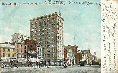 An Early View of the Scheuer Building, Broad & Commerce Streets, Newark NJ 1906
