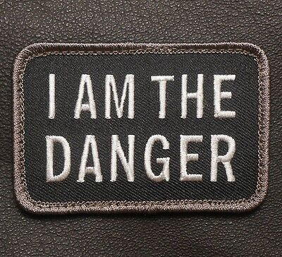 I AM THE DANGER TACTICAL BREAKING BAD MORALE WALTER WHITE SWAT OPS VELCRO PATCH