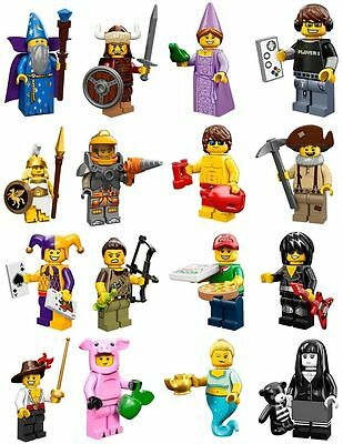 16 NEW sealed  LEGO MINI FIGURES SERIES 12 COMPLETE + ONLINE GAME CODES