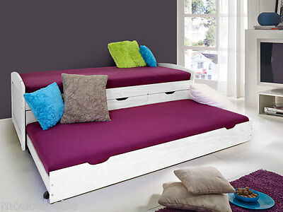 jugendbett funktionsbett g stebett bettkasten bett tandemliege nessi 2x 90x200 eur 219 00. Black Bedroom Furniture Sets. Home Design Ideas