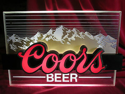 Vintage COORS BEER Illuminated Lighted Sign Advertising Bar Man Cave
