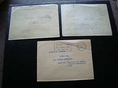 FRANCE - 3 enveloppes franchise (cy51) french