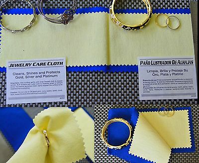 Limited Time Offer TOP QUALITY Jewelry Polishing Cloth Silver Gold Restore Shine