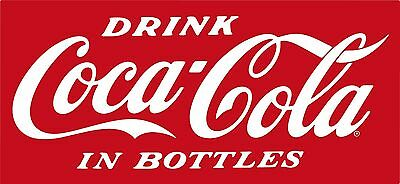 "Vintage Coca Cola Decal (red or white) 10"" x 4"""