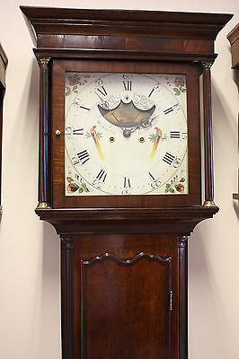 MOONDIAL LONGCASE CLOCK 8 DAY by BARNISH ROCHDALE NICELY RESTORED
