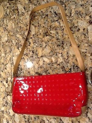 Authentic  ARCADIA Red Patent Leather  hand bag