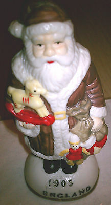 SANTA CLAUS BISQUE FIGURINE CHRISTMAS, ENGLAND 1905, HAND PAINTED - NEW!