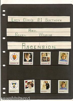 #t41. Collection Of 76 Lady Diana Postage Stamps - Unused