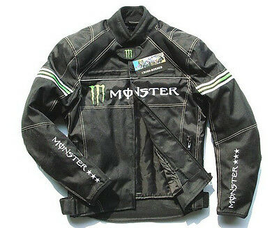 Best NEW Motorcycle Bike Riding Oxford Armor Protective Monster Energy Jacket 4u
