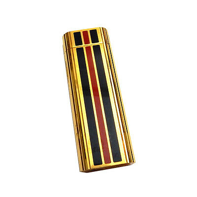 Vintage Gold tone with Dark Blue & Red Enamel Cigarette Lighter Maruman Japan
