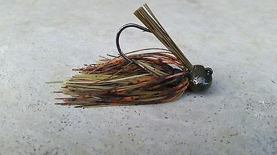 TWO 2 3//8 OUNCE FOOTBALL JIGS  *LIVING IMAGE DARK CANDY CRAW *