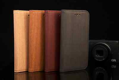 GENUINE, WOODEN LEATHER , WALLET FIT CASE FOR iPhone 6 6S AND 6 Plus 6S Plus