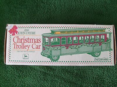 JOHN DEERE TROLLEY CAR CHRISTMAS BANK - 1996 - NEW IN BOX - VERY DETAILED