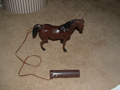 Vintage 1970's Battery Operated Brown Toy Horse-  For Display