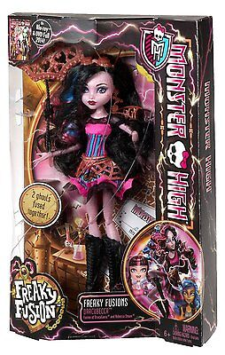Monster High Freaky Fusion Dracubecca Matell Doll New 2014