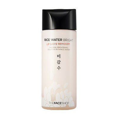 [The FACE Shop] Rice Water Bright Lip & Eye Remover 120ml Makeup