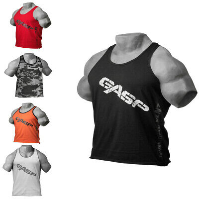 Gasp Vintage T-Back Shirt - Trainings-Shirt - Tank-Top Fitness-Sport