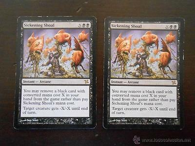 Mtg - Sickening Shoal X2 - Magic - Traidores De Kamigawa - Ingles