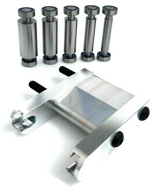"KNIFE MAKING SET: SMALL WHEEL HOLDER, 5 SMALL  WHEELS Fits 2"" Belt"