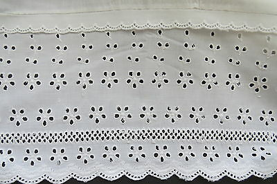 Vintage Twin Flat Sheet by Fieldcrest - White Eyelet Lace - Country Cottage Chic