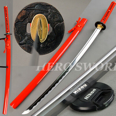 Red Samurai Japanese sword Hand Forged Full Tang 1060 High carbon steel Katana