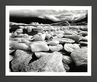 Robert Werling Photo Kunstdruck Art Print 43x35cm Portage-Glacier 2009 B&W SW