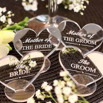 Wedding Table Decorations - Place Setting Name Plaques Silver