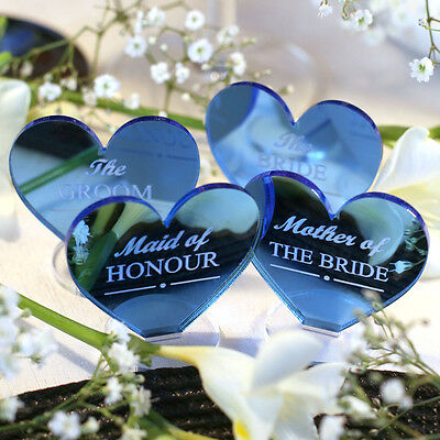 Wedding Table Decorations - Place Setting Name Plaques Blue