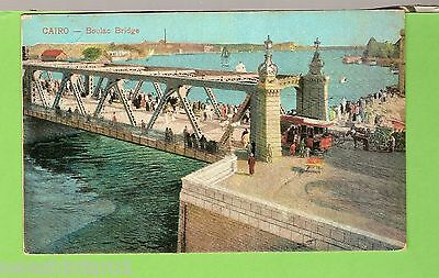 #e.   Postcard -  Boulac  Bridge, Cairo, Egypt