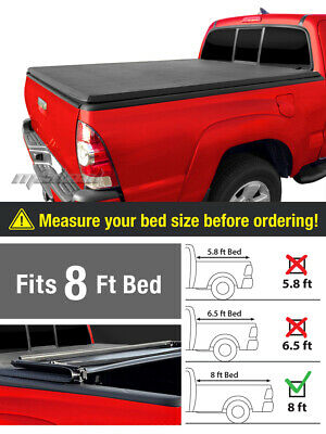 "Premium Trifold Tonneau Tonno Cover For 2002-2017 Ram 8ft/96"" Long Bed"