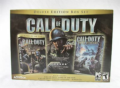 Call of Duty Deluxe Edition Box Set Windows PC 2005 Includes Expansion Pack