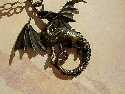 Heraldic DRAGON Necklace Medieval GOTHIC or Just Buy the Pendant Charm GOT