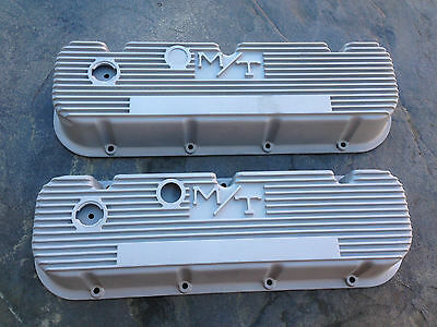 MICKEY THOMPSON MT ALUMINUM VALVE COVERS FOR BIG BLOCK CHEVY GASSER HOT ROD