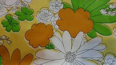 Cannon Monticello TWIN FLAT Floral Sheet 60s 70s  Hippie Vintage Flower Power