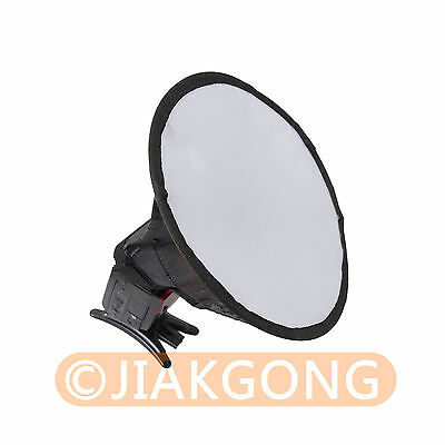 "20cm/8"" Round Flash Softbox Diffuser for Canon Nikon Pentax Sony"
