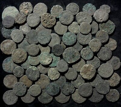"Good Quality Lot of 5 ""Crusties"" Extra Dirty Crusty Uncleaned Roman Bronze Coins"