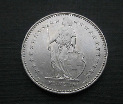 SWITZERLAND 2 Franken 1995 B  Helvetica Schweiz Swiss Francs Lower Mintage