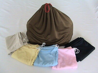 One Silky Microfiber Dust Bag for Purse Handbag StorageXL/M/S Color No Logo w/ID
