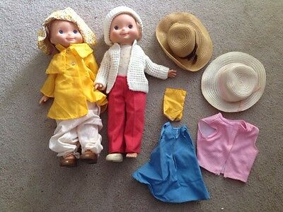 Lot Of 2 1970 Fisher Price My Friend Mandy Doll W/clothes