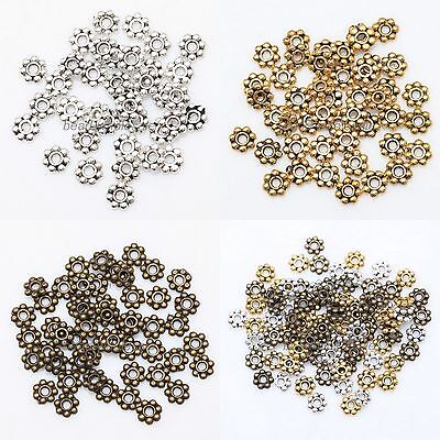 Lots 1000pcs Tibetan Silver Daisy Flower Spacer Beads Jewelry Findings 4mm