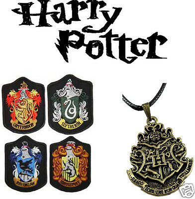 Harry Potter Bronze The Hogwarts Badge ID Souvenir Pendant Chain Necklace d1551
