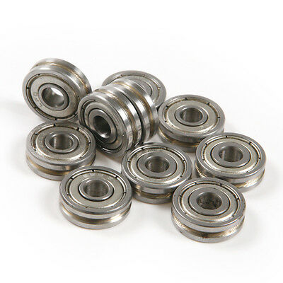 10pcs 0.5mm Deep Metal V Groove 5*16*5MM Guide Pulley Rail Ball Bearings Wheel